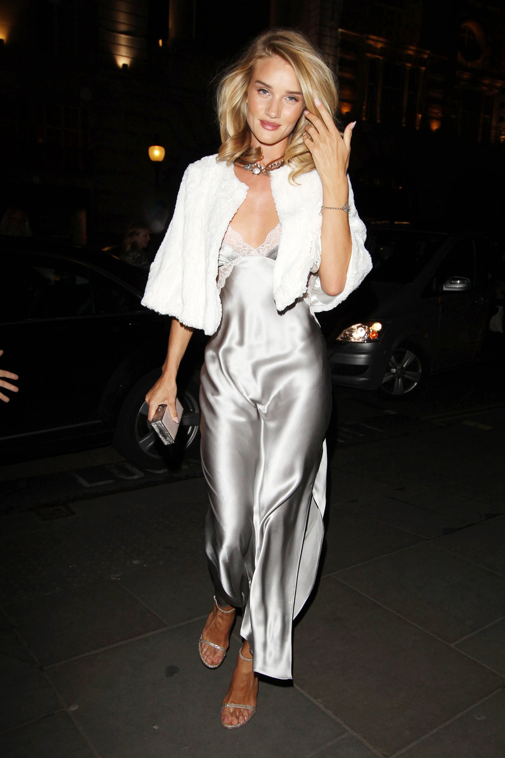 Rosie Huntington-Whiteley Does Underwear As Outerwear At The Launch Of Her Perfume