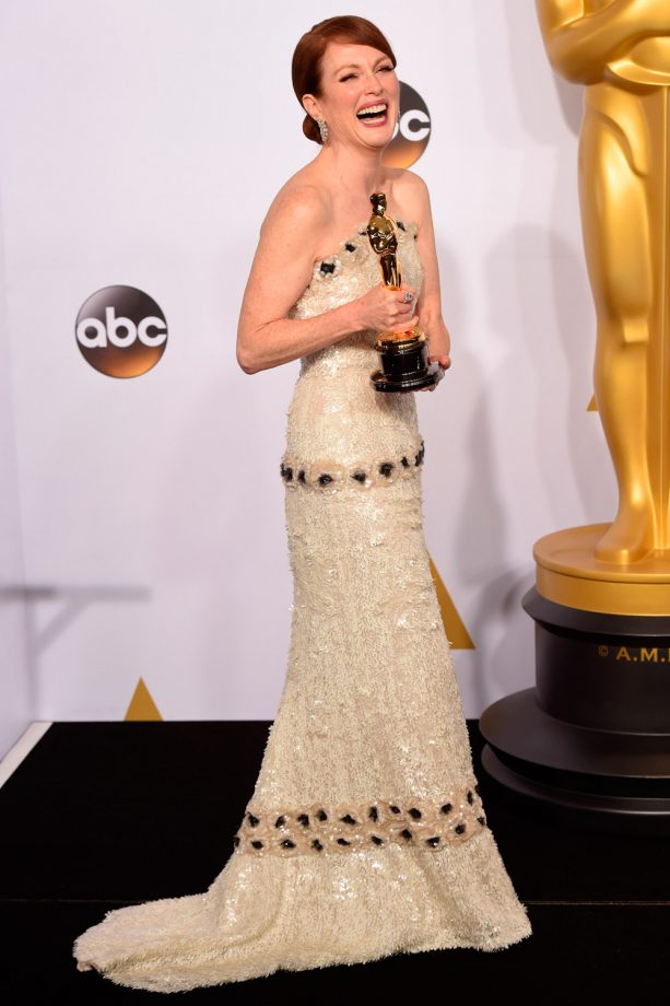 Julianne Moore winning Best Actress at the Oscars in 2015