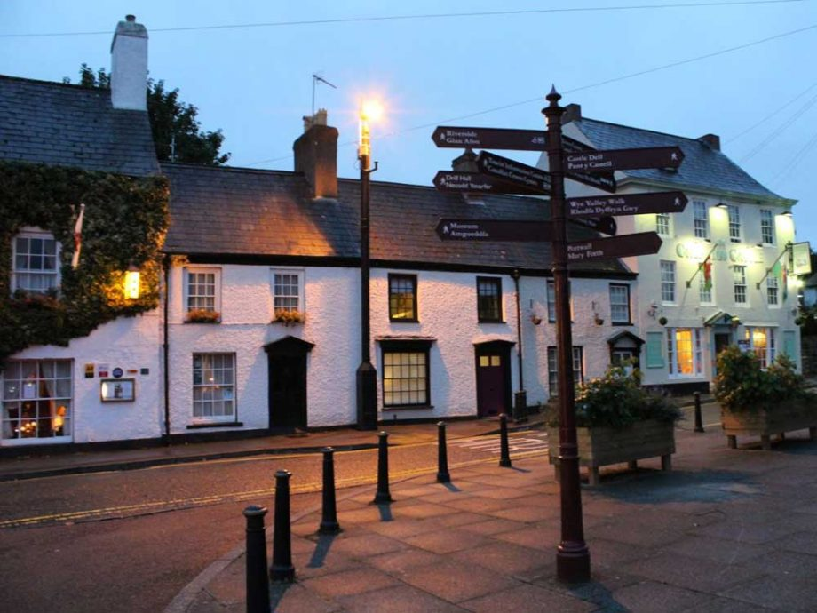A nighttime view of Number Fourteen, Chepstow