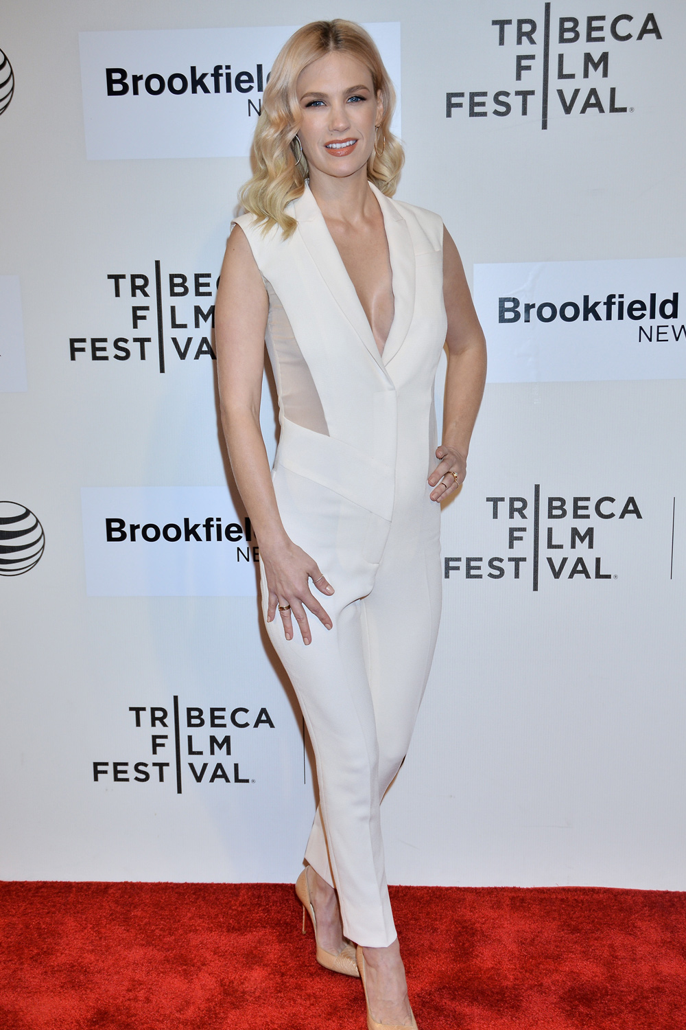 January Jones Wears A Daring Prabal Gurung Jumpsuit And Looks Totally Amazing