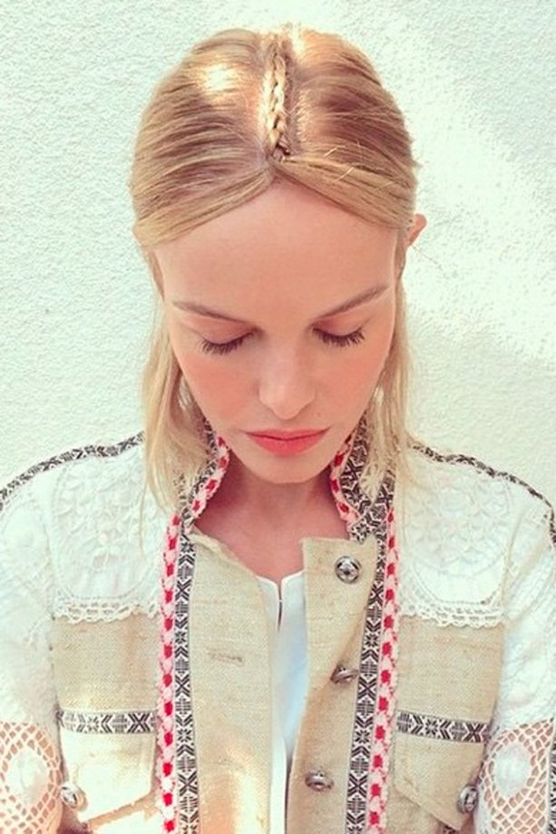 Kate Bosworth at Coachella with plait