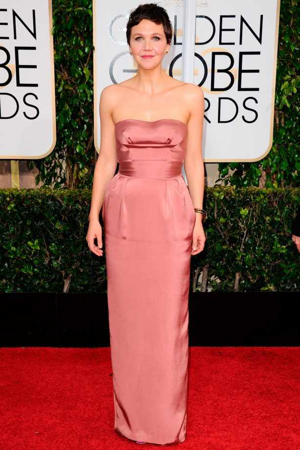 Maggie Gyllenhaal at the Golden Globes 2015