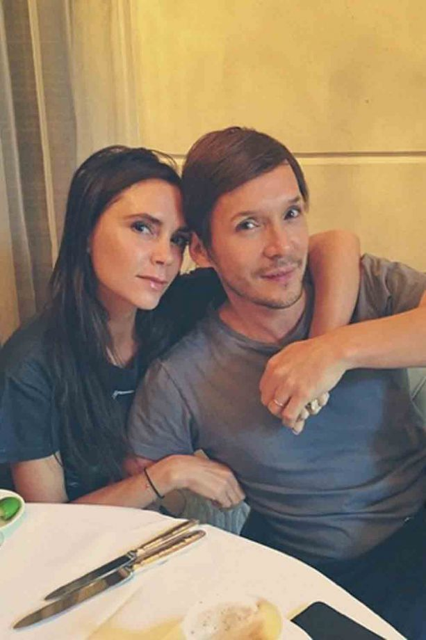 Victoria Beckham and Ken Paves in Singapore