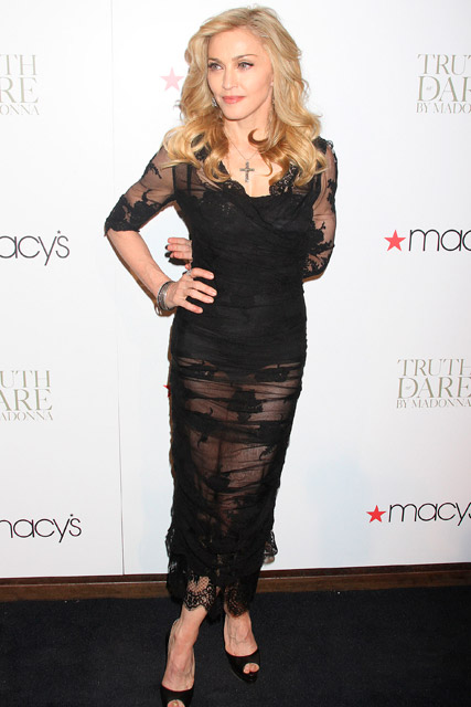 Madonna Truth or Dare fragrance launch in New York - perfume - macy's - celebrity news
