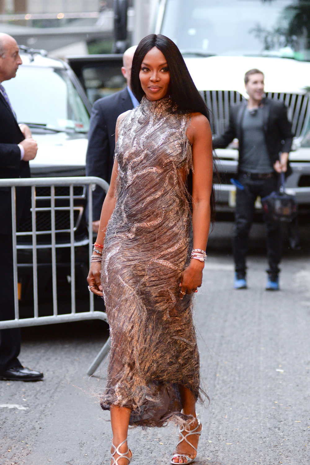 Naomi Campbell Recycles Versace Dress From 1998 In New