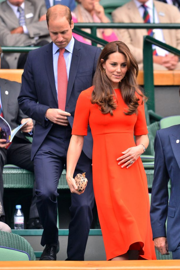 Kate Middleton L.K. Bennett red dress Wimbledon 2015