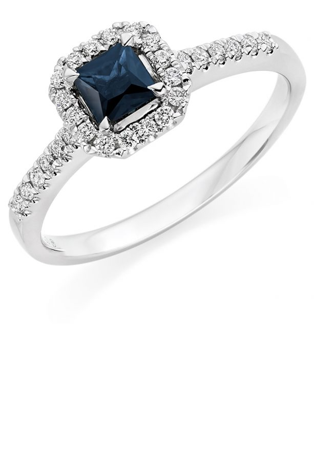 Sapphire And Diamond Engagement Ring Beaverbrooks