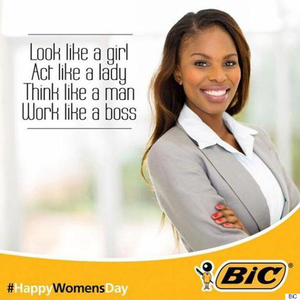 BiC Posted A Sexist Advert on Women's Day, And People Weren't Happy