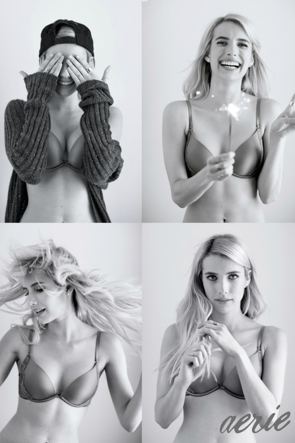 Emma Roberts Bans Airbrushing In Her New Aerie Lingerie Campaign