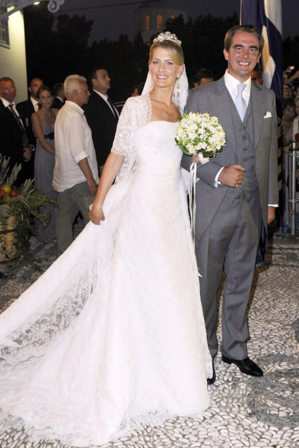 Royal wedding dresses the most iconic and dreamy gowns ever prince nikolaos of greece and tatiana blatnik iconic royal weddings lifestyle gallery junglespirit Images