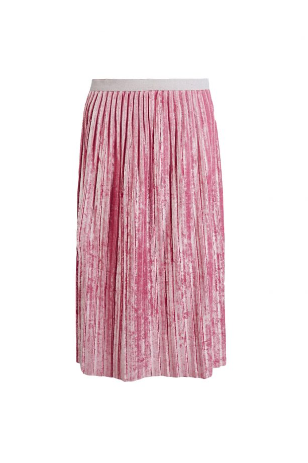 62142d2057 Crushed Velvet Pleated A Line Midi Skirt, £29.50, M&S Collection
