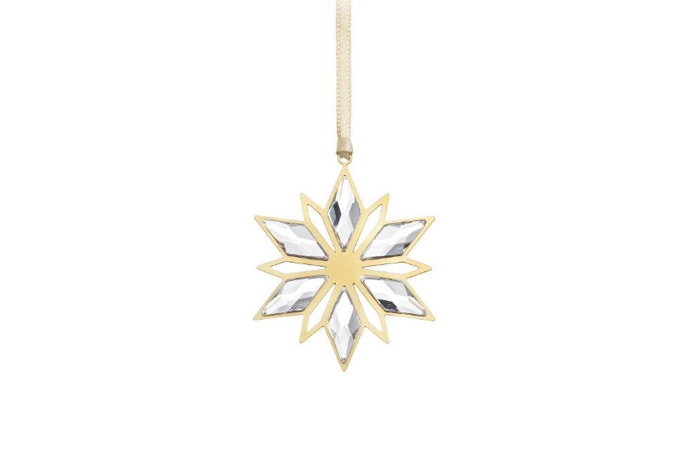 Swarovski's Golden Star Ornaments
