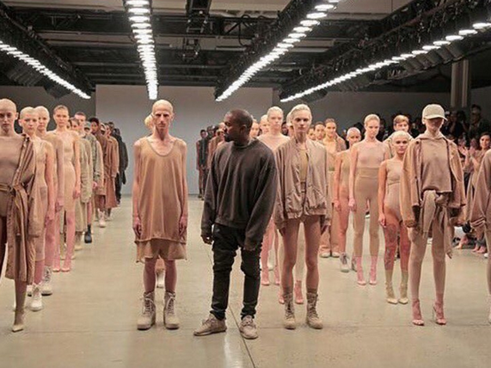 e7726dc0d204d Kanye couldn t find room on his packed out front row for supermodel of the  moment and actual sister-in-law Kendall  Madness.