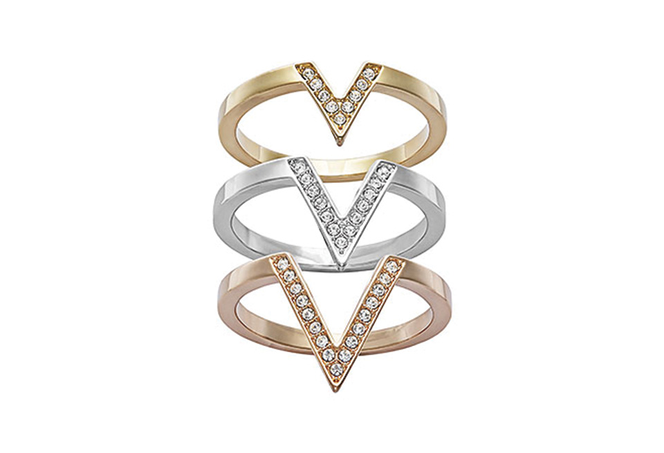 Swarovski's Delta Ring Set