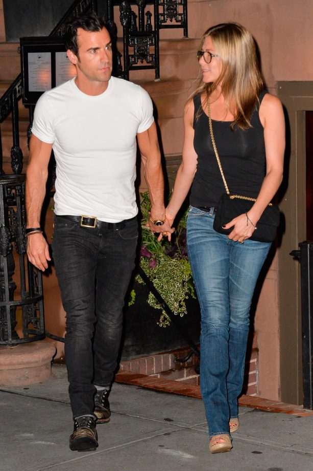 Jennifer Aniston and Justin Theroux out and about