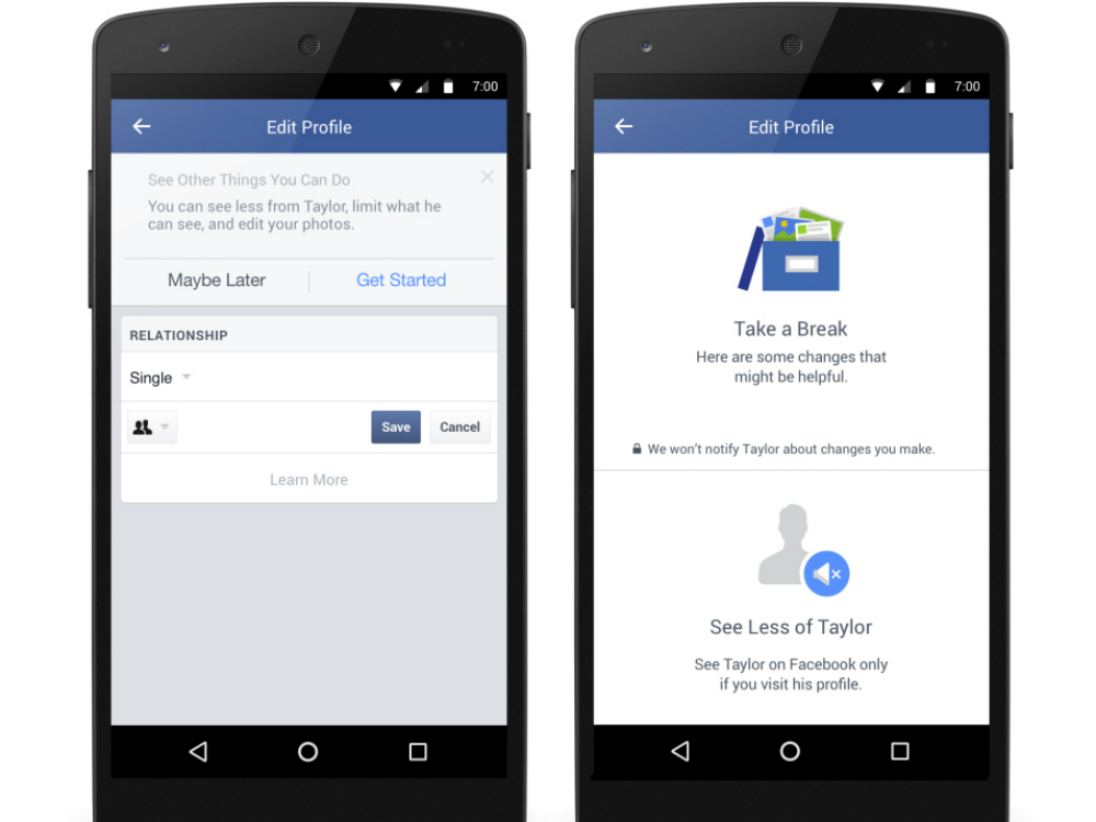 Facebook lets you delete your ex thankfully facebook is introducing some new options for when you change your relationship status from in a relationship to single ccuart Choice Image
