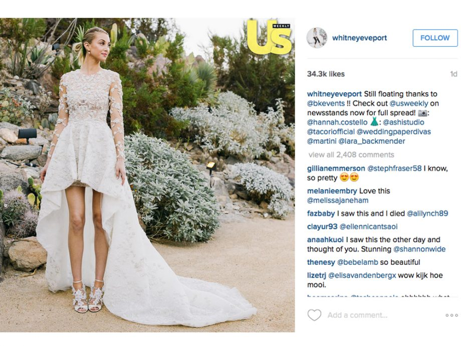 Whitney Port wedding dress