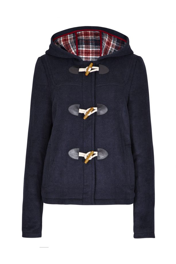 Navy duffel jacket, £25