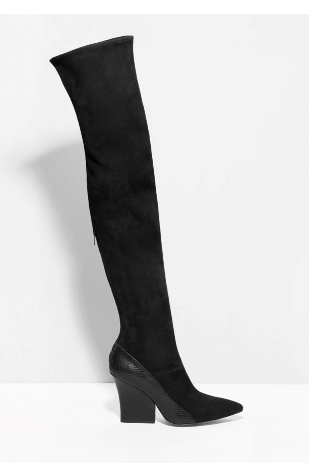 82c1380714e0 Other-Stories Embossed Over-The-Knee-Boots