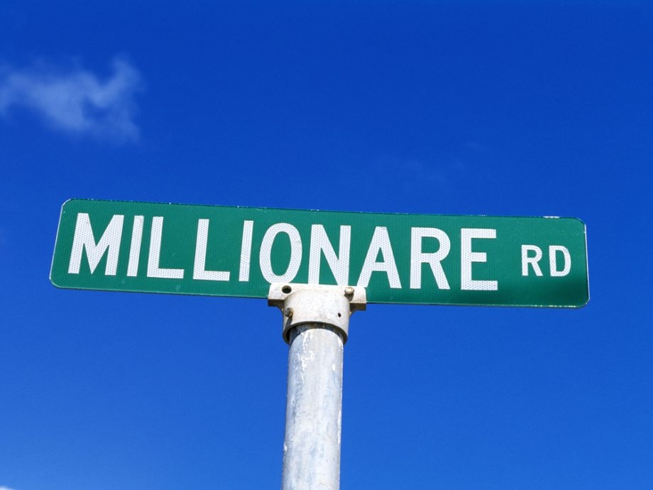 Road Name Millionaire Street Sign