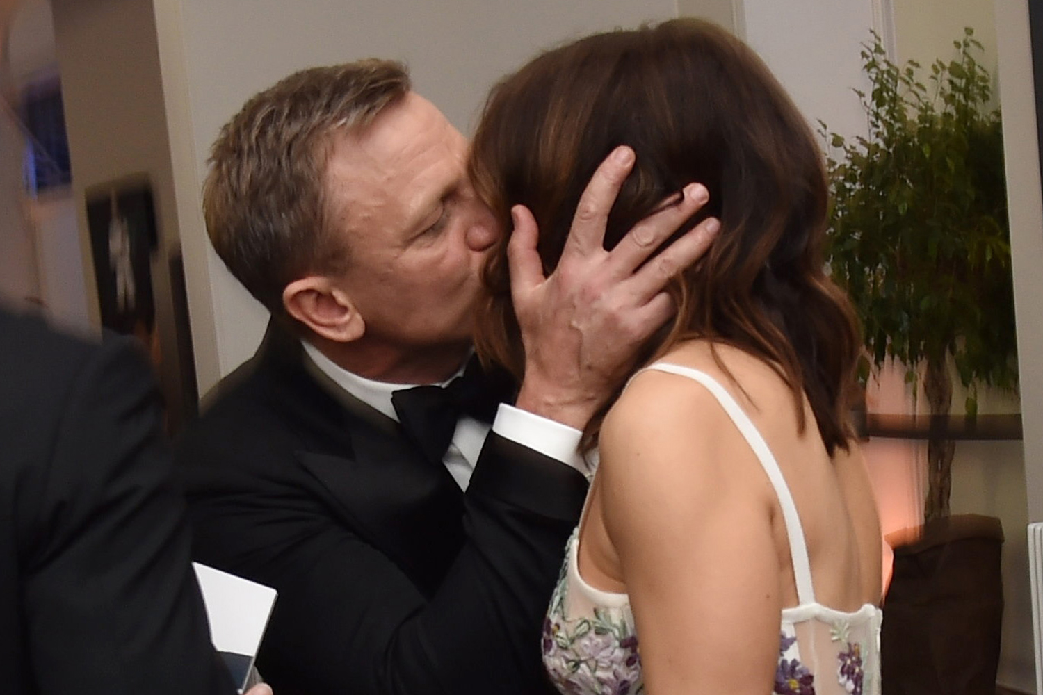 Daniel Craig and Rachel Weisz kissing