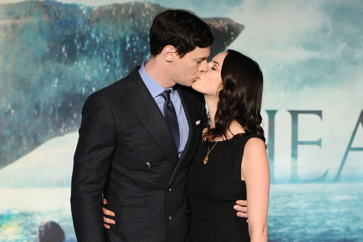 Ben Walker and Kaya Scodelario kissing
