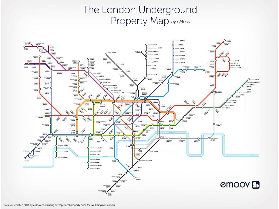 London Map Live.This London Tube Map Reveals The Average House Price At Every Stop