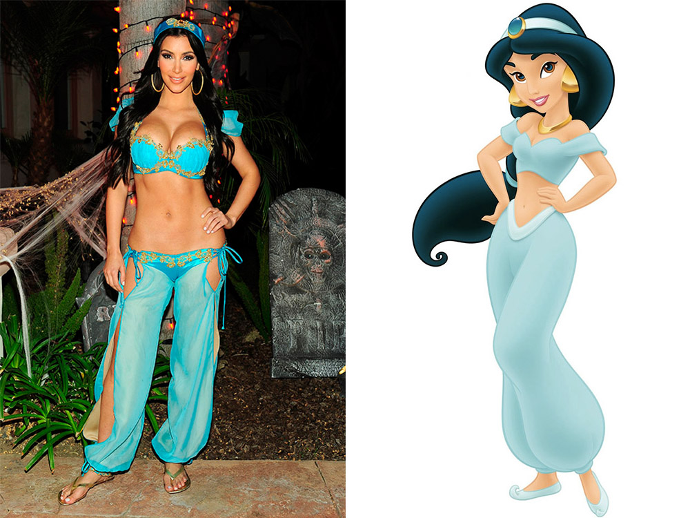 Kim kardashian as princess jasmine