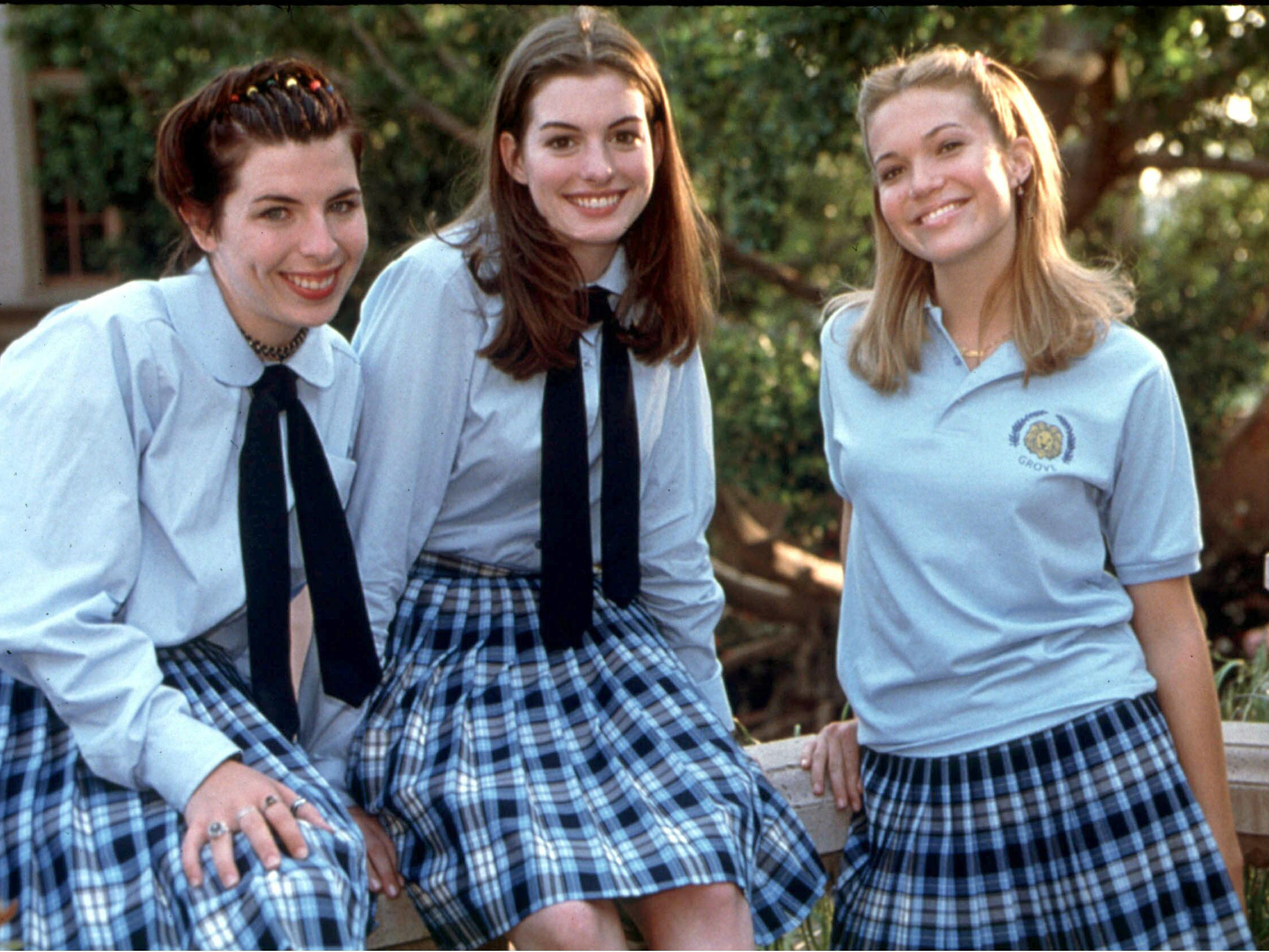 Remarkable, very anne hathaway school girl quite good