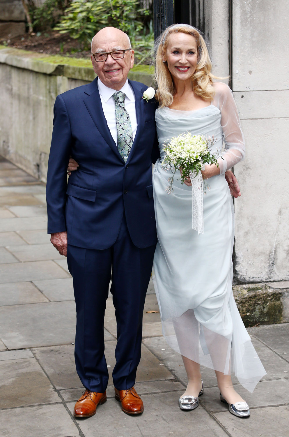 Jerry Hall S Wedding Dress The Fashion Verdict