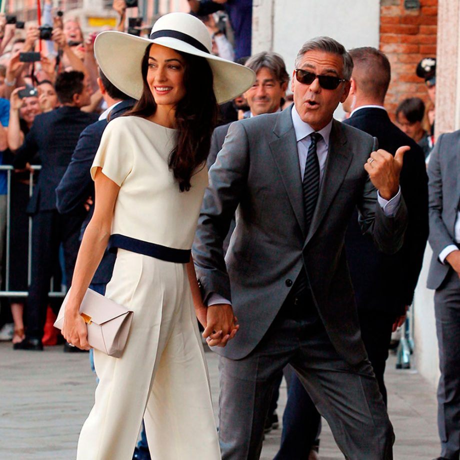 Wedding trousers Amal Clooney