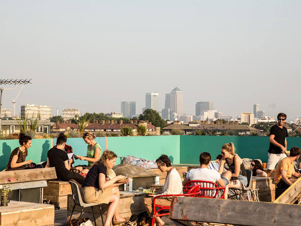 best rooftop bars east london