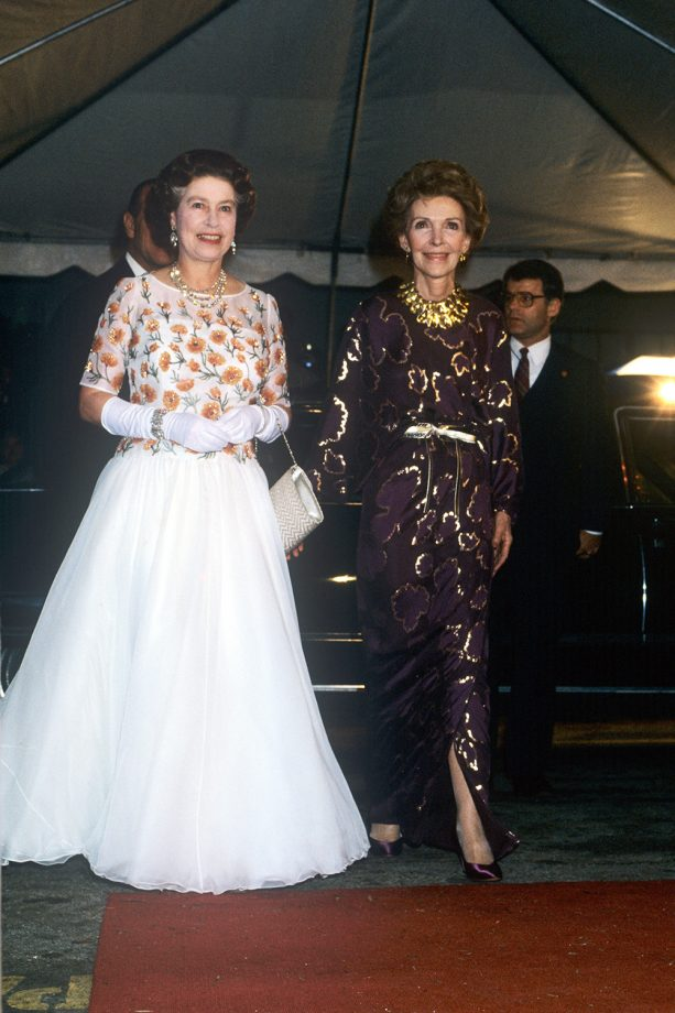 Queen Elizabeth With Nancy Reagan 1983