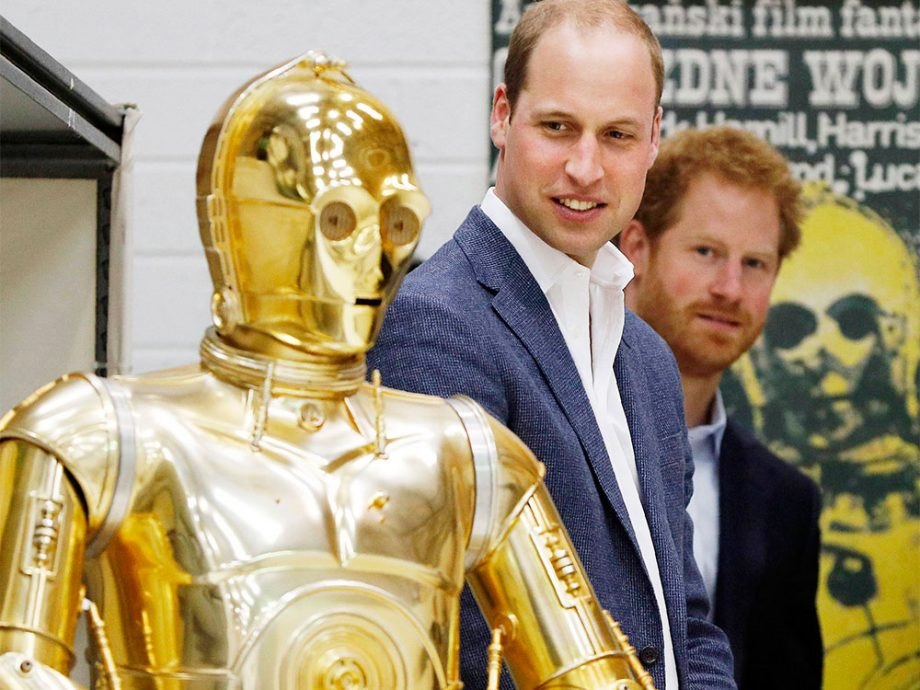 William and Harry Star Wars