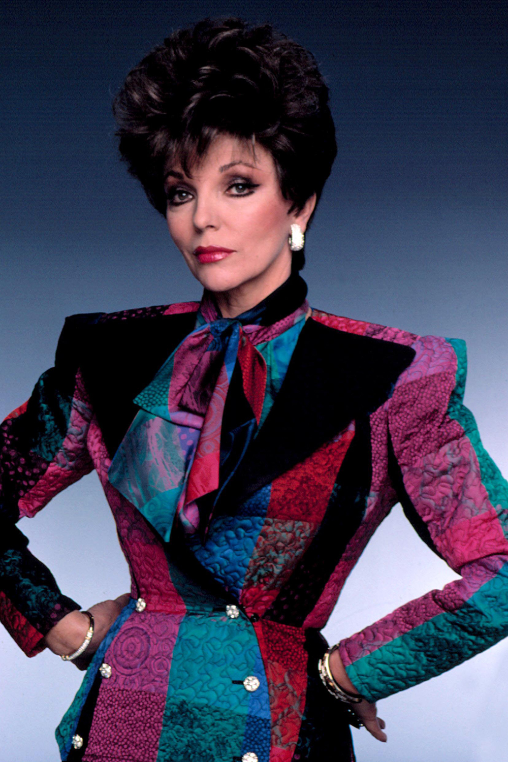 Joan Collins Dynasty 80s fashion