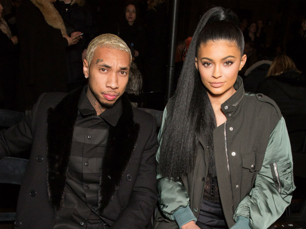 Kylie Jenner and Tyga front row fashion week