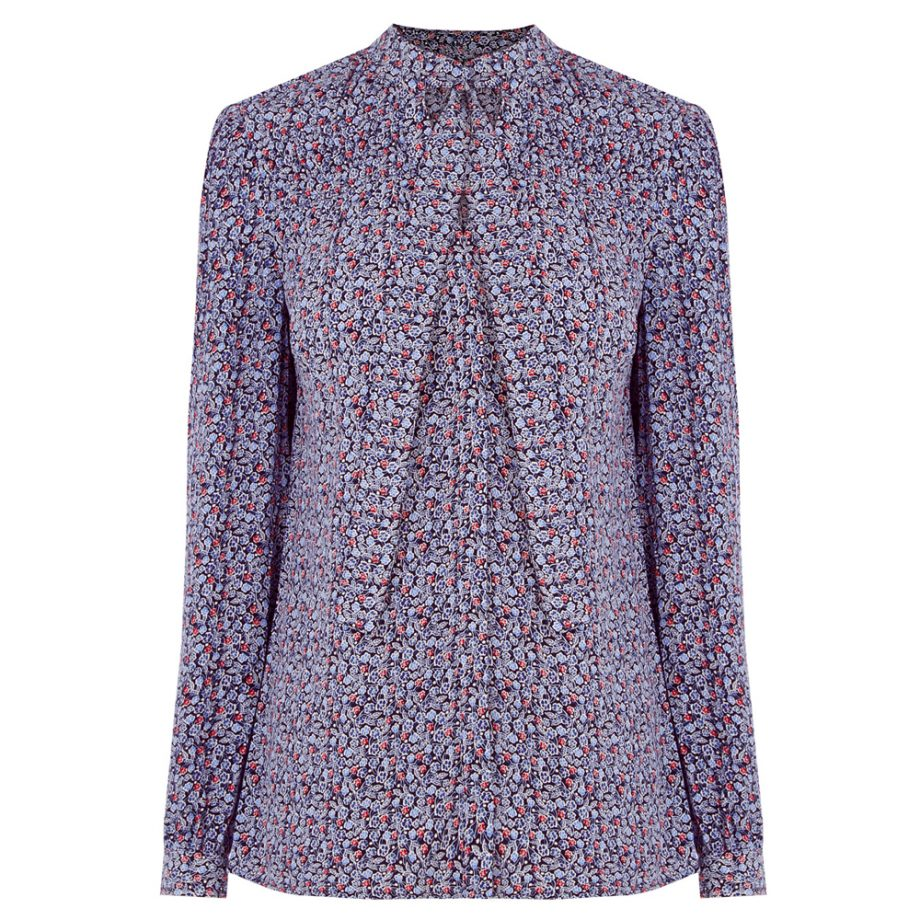 72ab433e8555c1 Warehouse Pussy Bow Blouse liberty style floral print