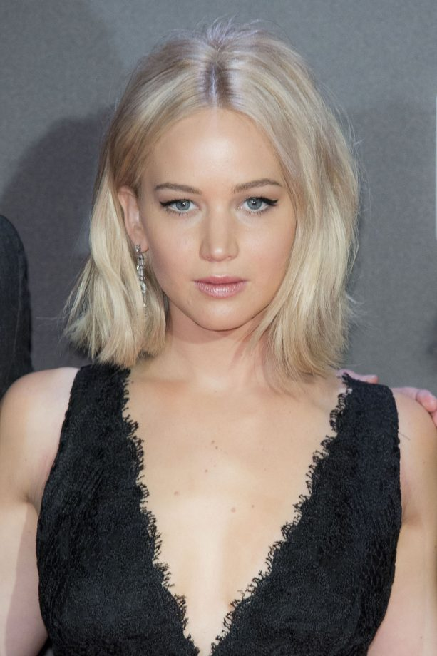 Bob hairstyles the best celebrity bobs to inspire your hairdo jennifer lawrence bob hairstyle urmus Images