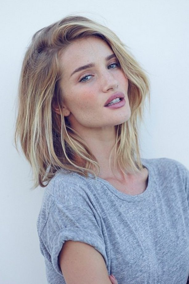 Bob hairstyles the best celebrity bobs to inspire your hairdo rosie huntington whiteley bob hairstyle urmus Images