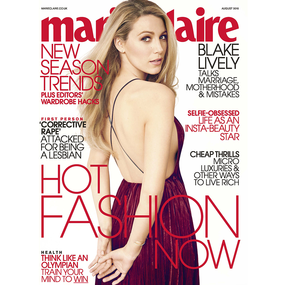 Hi Blake Meet Marie Claire's beautiful August issue cover star