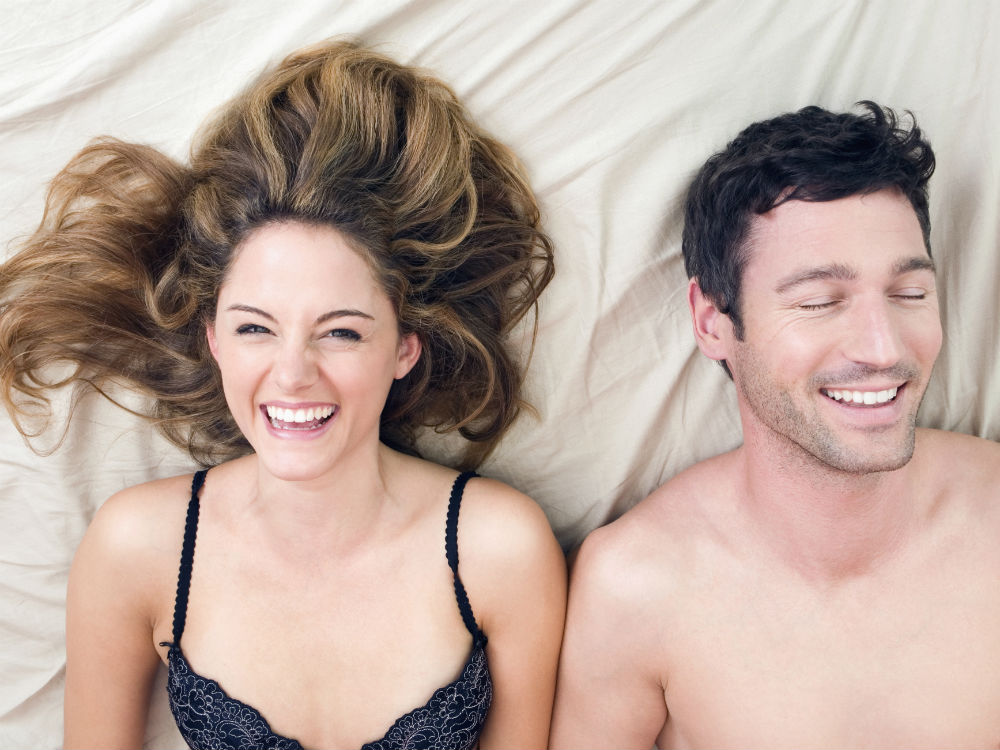 Best sex games laughing couple in bed