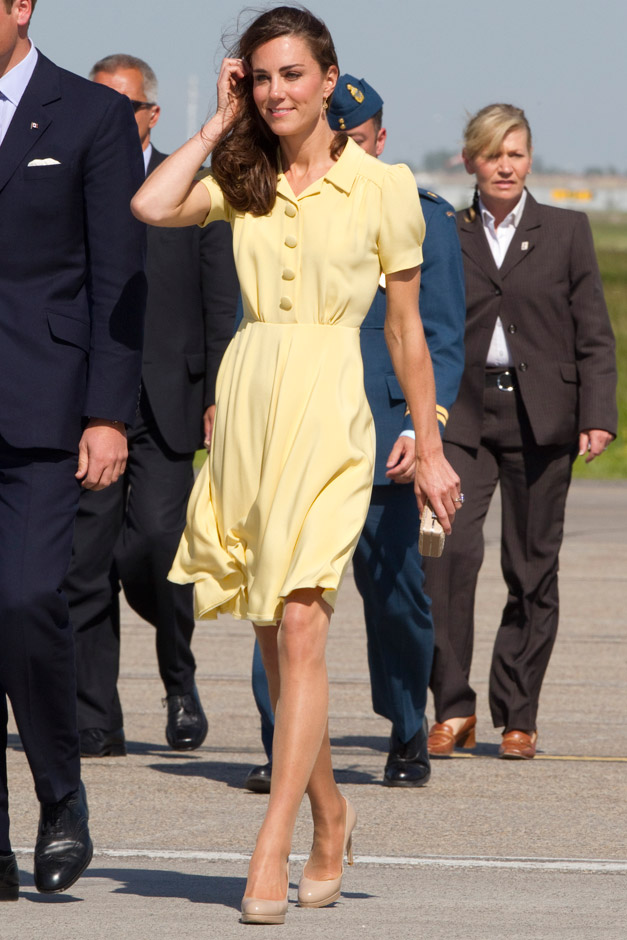 yellow dress kate middleton ore off meaning