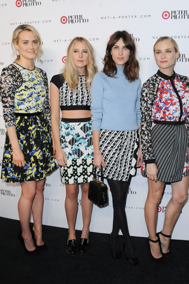 Alexa Chung and Diane Kruger party in Peter Pilotto x Target