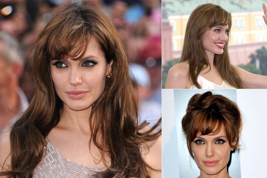Angelina Jolie Hair Styles: Fringes: The Best Celebrity Looks In Every Length And