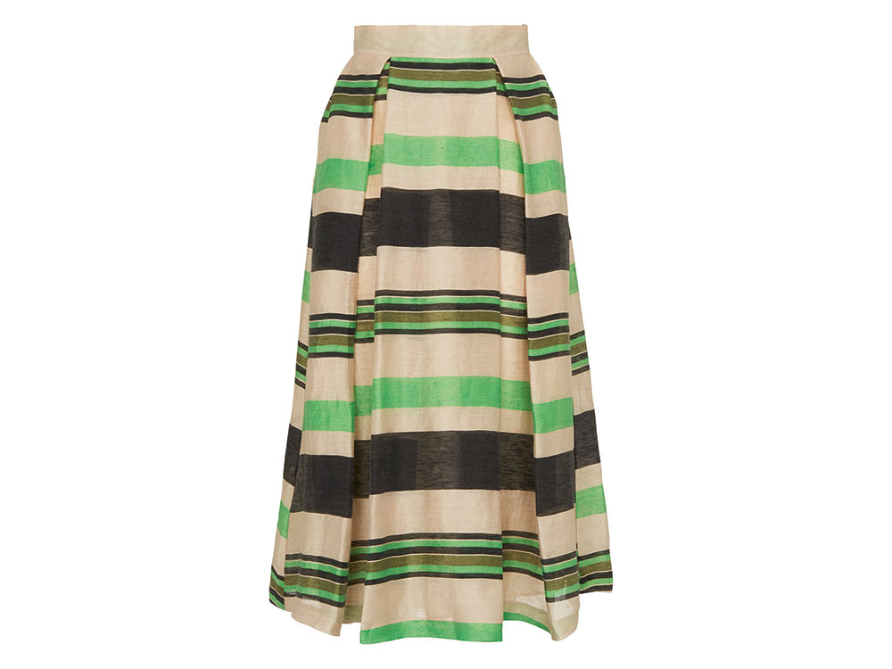 Miriam Stripe Midi Skirt
