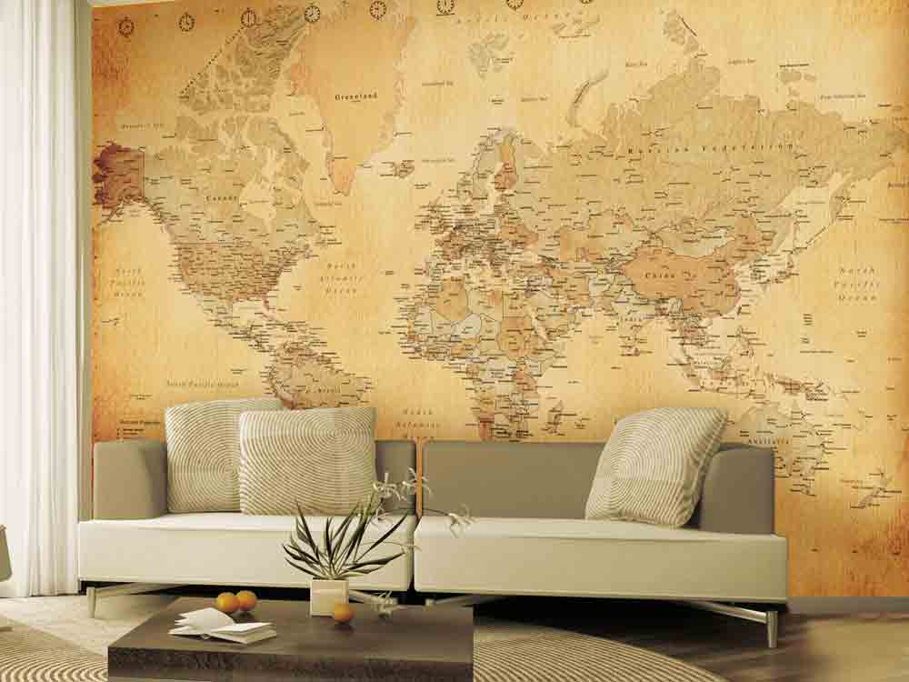 7 of the best interior trends for autumn marie claire map wallpaper gumiabroncs Gallery