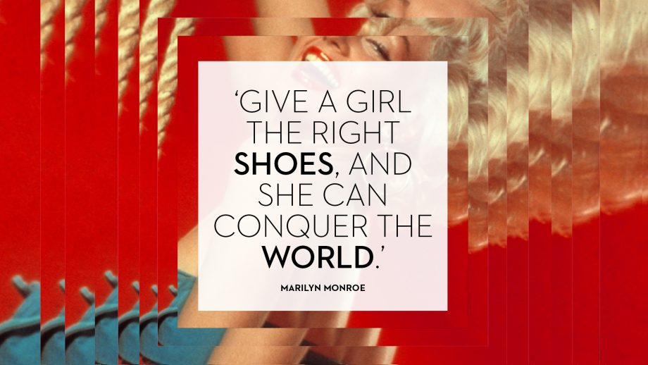Marilyn Monroe shoe quotes