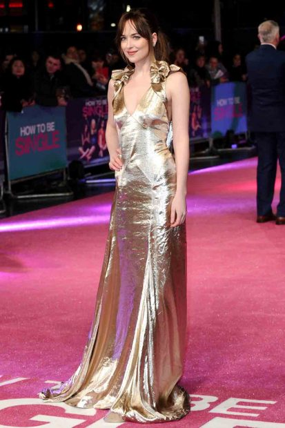 Lang Abendkleid in Gold