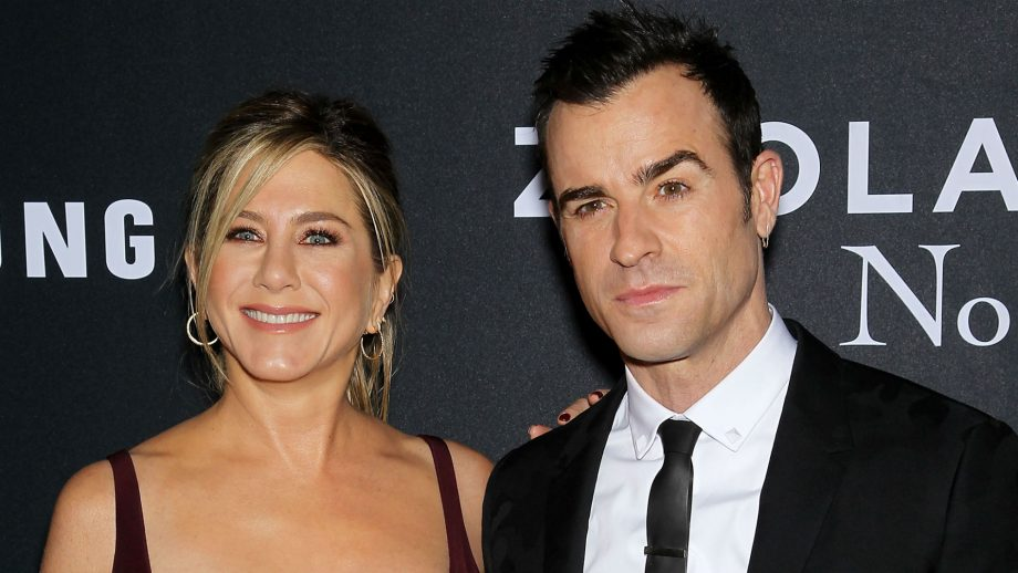 Justin Theroux with wife Jennifer Aniston
