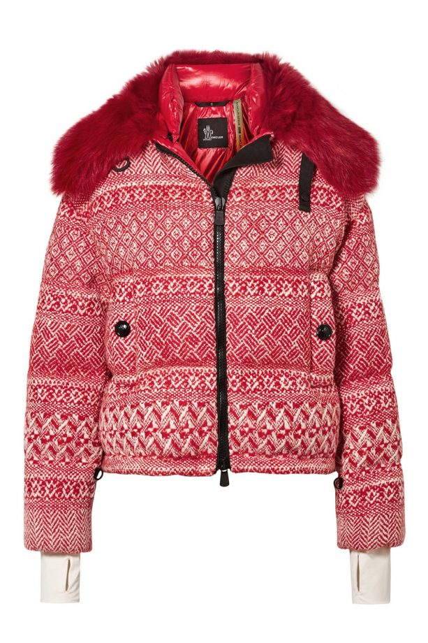 MONCLER GENIUS + 3 Grenoble faux shearling-trimmed wool-blend tweed down  jacket 22d3e0a1c